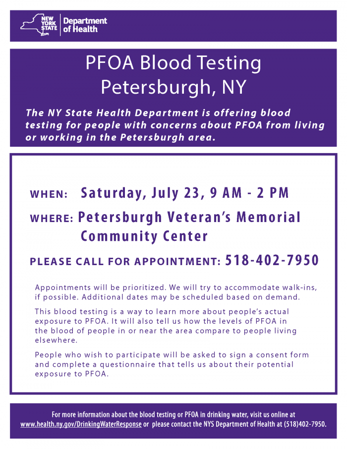 Petersburgh Blood Testing